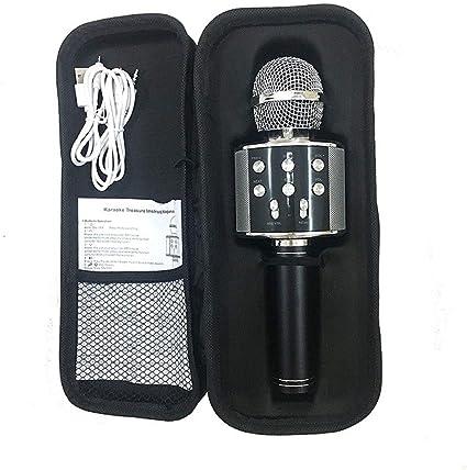 Micrófono inalámbrico El micrófono de karaoke altavoz inalámbrico Bluetooth micrófono for la computadora del teléfono de grabación Youtube Inicio Karaoke Mic (color : Negro): Amazon.es: Instrumentos musicales