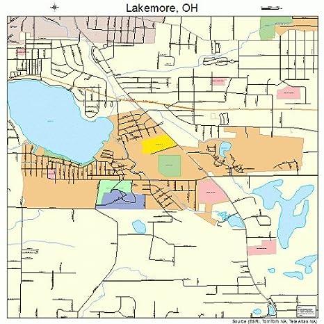 Amazon.com: Large Street & Road Map of Lakemore, Ohio OH ... on map of of ohio, large maps of ohio with rivers, travel map of ohio, business map of ohio, general map of ohio, printable road map of ohio, transportation map of ohio, military map of ohio, reference map of ohio,