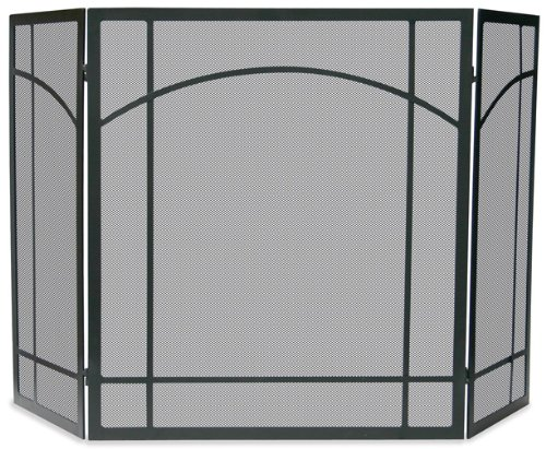 Uniflame, S-1023, 3 Fold Black Wrought Iron Mission Screen ()