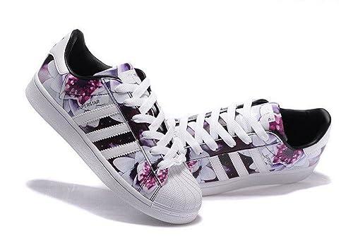 Auténticas Adidas Superstar, zapatillas de mujer, (YBZQ33OTYN00), (USA