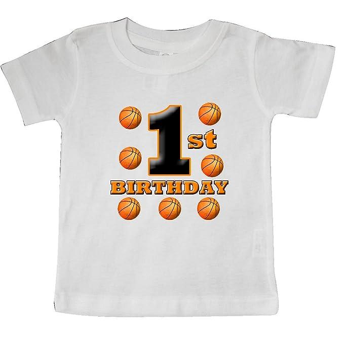 Amazon.com: inktastic Baby Boys 1er Cumpleaños Baloncesto ...