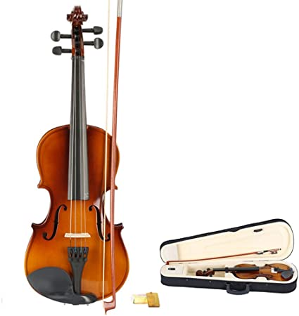 1//4 Natural Violin Set For Kid Beginner Student with Violin Case Bow and Rosin