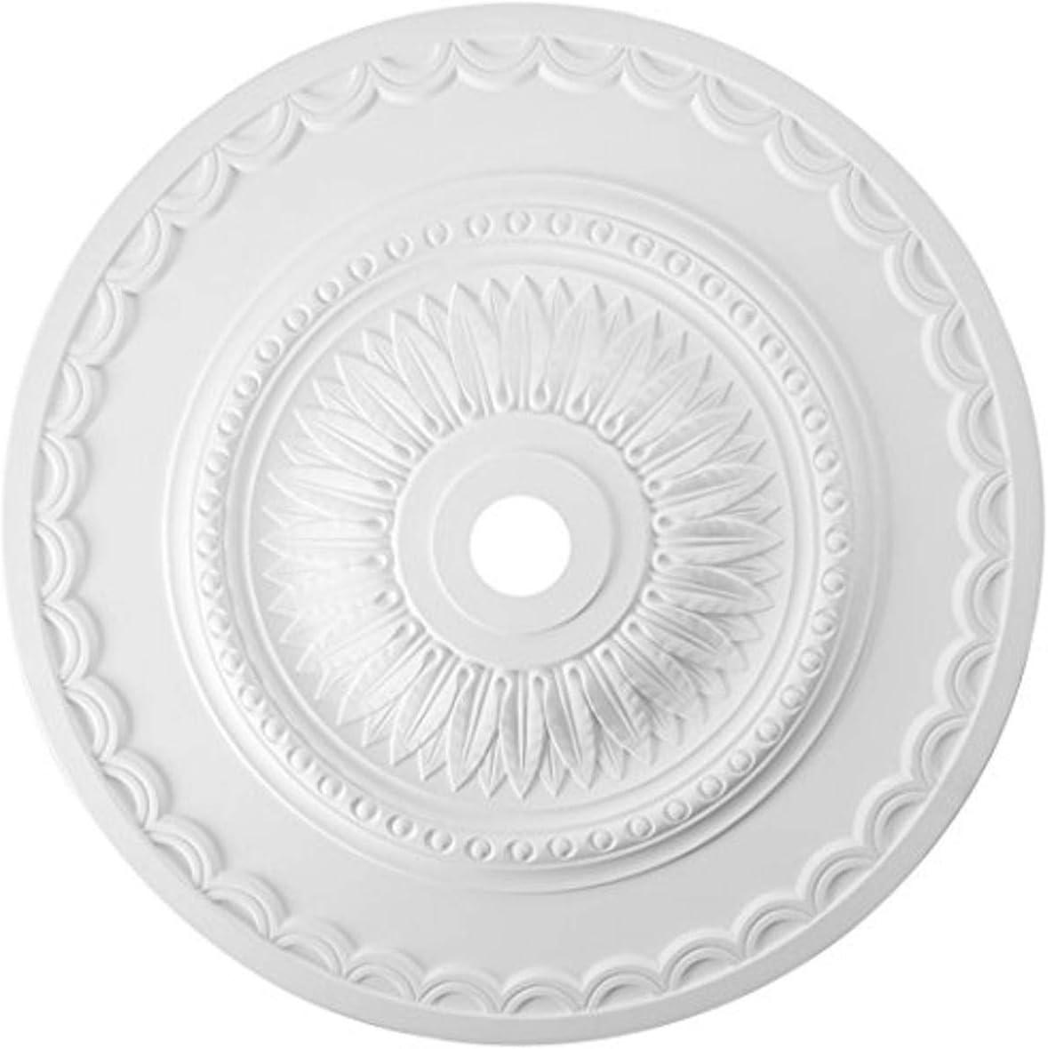 Elk M1008WH Brookdale Ceiling Medallion, 30-Inch, White Finish