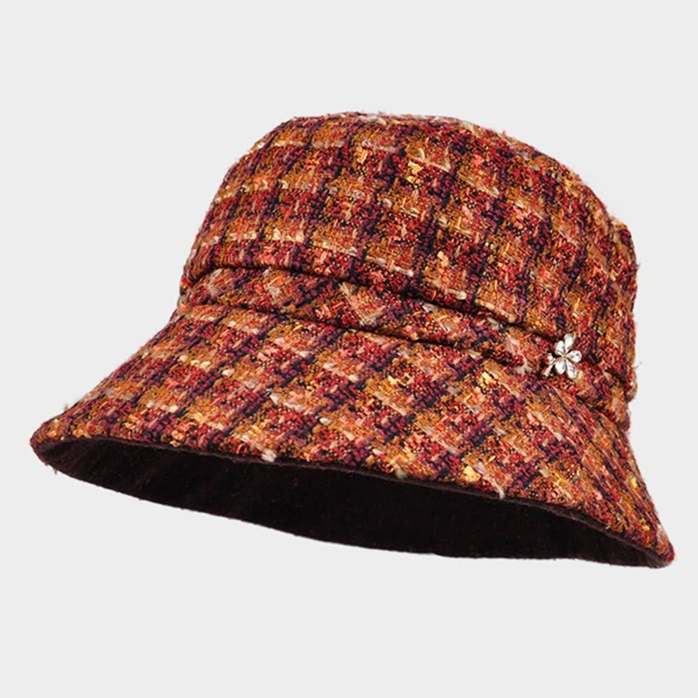 GLJF フィッシャーマンハット、冬レディハットイギリスドームダイヤモンドトップハットファッション暖かい冬の帽子 (色 : B)  B B07JMQGHQR