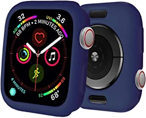 BOTOMALL for Apple Watch Case 38mm Series 3/2 Premium Soft Flexible TPU Thin Lightweight Protective Bumper Cover Protector for iWatch(Midnight Blue,38MM Series 3/2)