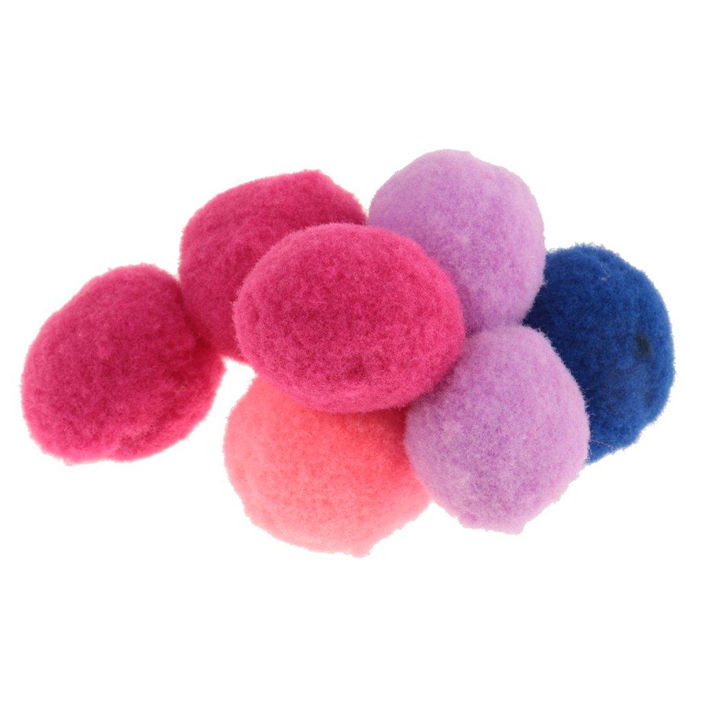 10mm MagiDeal Lot 100x Pompons Balles Noel D/écoration Objet DIY Loisirs Cr/éatifs Boules pour Sapin