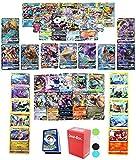 Pokemon Cards: GX, Mega, or EX Card Guaranteed, 5 Reverse Cards, 5 Rare or Holo Rare Cards, 40 Common/Uncommon Cards, Deck Box and Random Bonus - 51 Cards Total