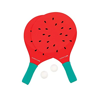 SunnyLIFE Summertime Ping Pong Table Tennis Beach Paddles: Toys & Games