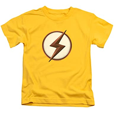 64d5cc55 Image Unavailable. Image not available for. Color: Flash Kid Flash Logo  Unisex Youth Juvenile T-Shirt ...