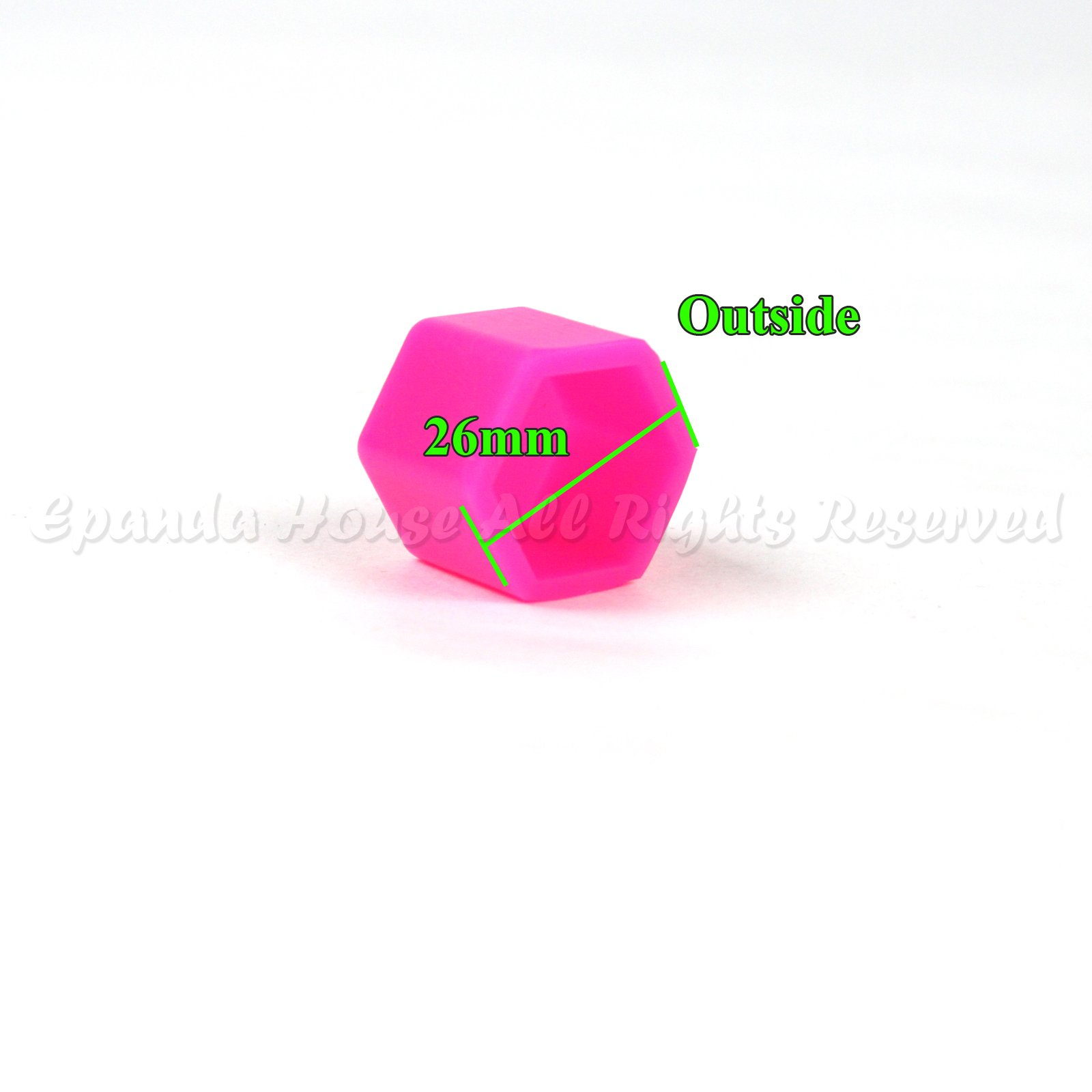21mm 20X Glow In The Dark Blacklight Wheel Rim Lug Nuts Covers Cars/Bikes Pink by EpandaHouse (Image #3)