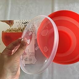 Lékué Recipiente para cocinar Palomitas, Rojo, 20 cm: Amazon.es: Hogar