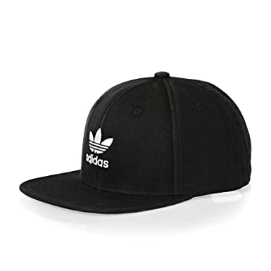 f70243d843b adidas Originals Ac Cap TRE Flat Cap One Size Black White at Amazon ...