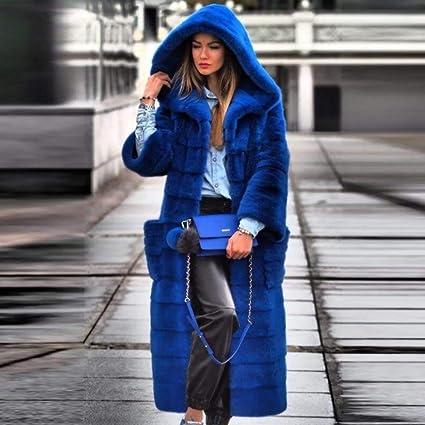 JKYIUBG Daunenjacke Pelzmantel Frauen Winter Natürliche
