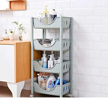 Amazon.de: ZYN Regal-Badezimmer-Badezimmer-Toiletten-Plastikregal WC ...