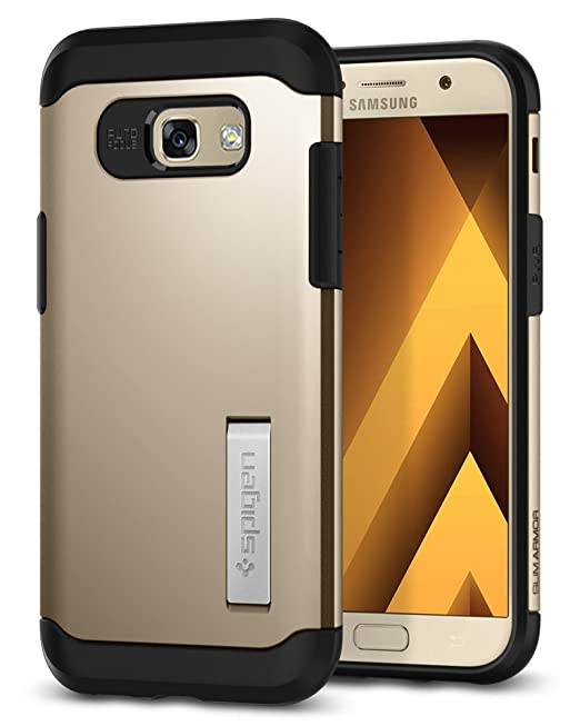 watch d30be f47cf Spigen Slim Armor Galaxy A5 2017 Case with Air Cushion Technology and  Hybrid Drop Protection for Samsung Galaxy A5 2017 - Champagne Gold