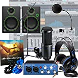 Presonus AudioBox + AT2020 + Mackie CR4 + Mic Stand Home Recording Bundle Studio
