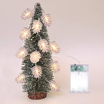 christmas lights pinecone lights warm white led christmas tree lights pine nuts decoration fairy lights for