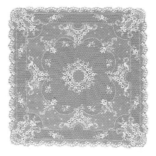 (Heritage Lace Floret 36-Inch by 36-Inch Table Topper, Ecru)