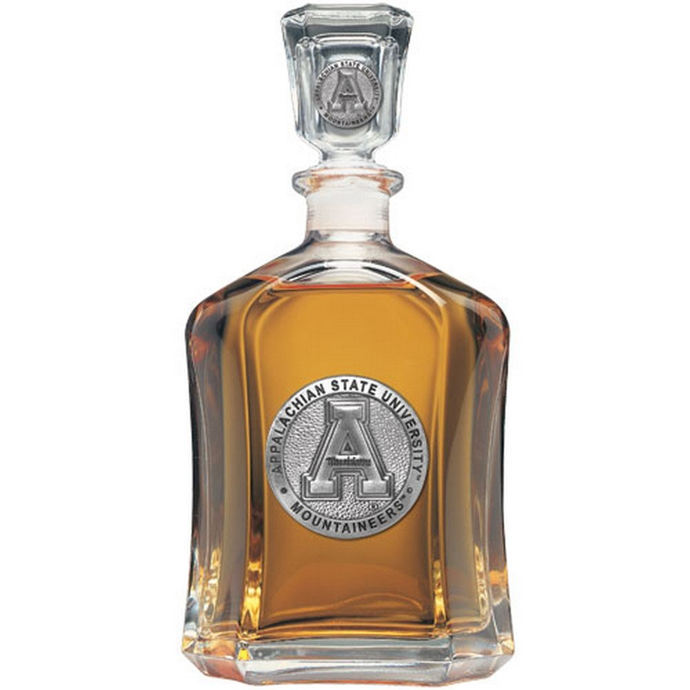 Appalachian State Mountaineers Glass Capitol Decanter (Spirit Holder) 24 oz - NCAA College Athletics