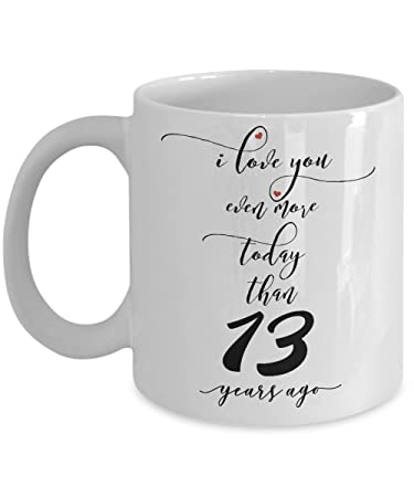 Amazon 13th Wedding Anniversary Gifts For Him I Love You More