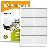 Frankier Adress Etiketten 97 x 67,7 mm selbstklebend blanko weiß - 800 Internetmarke 97x67,7 Aufkleber auf 100 DIN A4 Bogen 2x4 - 3660 4782 4280