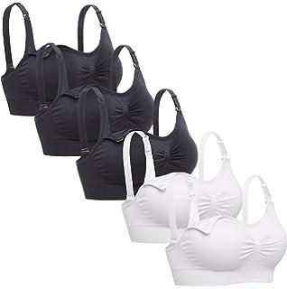 1b339ccfad643 Lataly Womens Sleeping Nursing Bra Wirefree Breastfeeding Maternity  Bralette Pack of 5