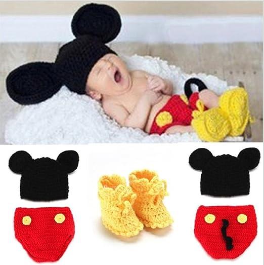 Baby Häkelkostüm Strick Kostüm Fotoshooting Fotos 2 Teile Micky Maus ...