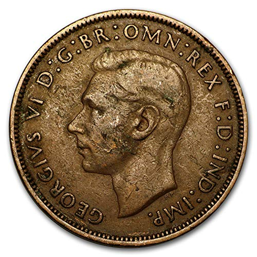 1911 UK -1936 George VI Penny Large Head Cull (Random Coin) Penny Good