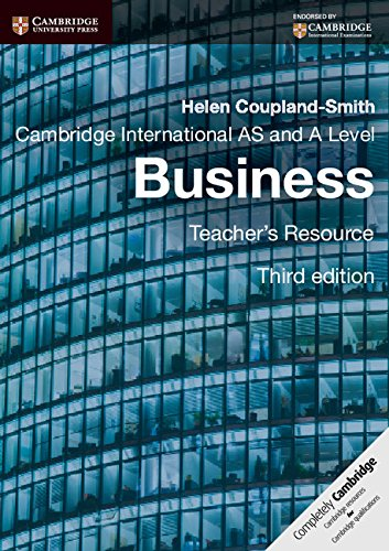Cambridge International AS and A Level Business Teacher's Resource CD-ROM (Cambridge International Examinations) by Coupland Smith Helen