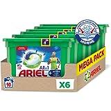 Ariel Allin1 Pods Active - Detergente en cápsulas para la lavadora, adecuado para eliminar los malos olores, 90 lavados (6 x 15)