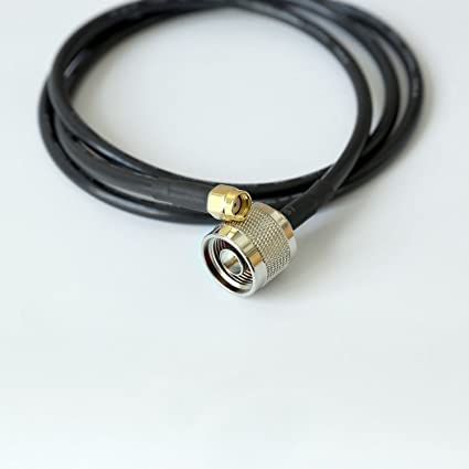 TECHTOO N Male to RP-SMA RF Antenna Pigtail Jumper Adapter Extension Coaxial Cable Pigtail