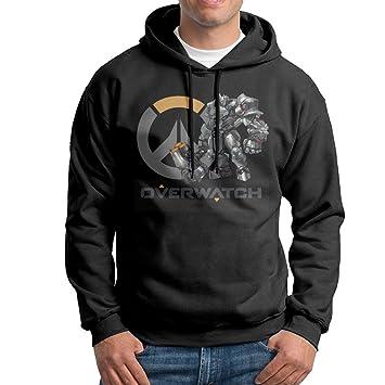 CURBABY SHIRT Overwatch Reinhardt Logo Arte Hombre Sudadera Sudadera Negro: Amazon.es: Deportes y aire libre