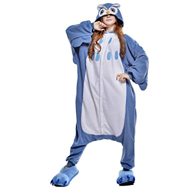 75fccea8e57d Amazon.com  NEWCOSPLAY Adult Unisex Owl Onesie Pajamas Costume  Clothing