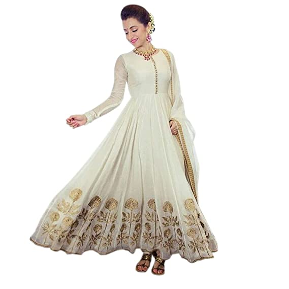 c2d746b472 Image Unavailable. Image not available for. Colour  Apnisha Women s Georgette  Semi-Stitched Anarkali Suit ...