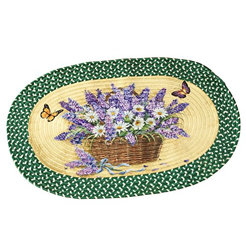 Lavender And Daisy Braided Accent Rug, Polypropylene ()