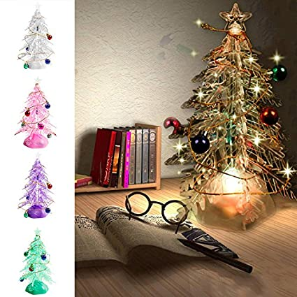 led christmas tree lights battery operated plastic crystal artificial christmas tree colour changing xmax with colourful