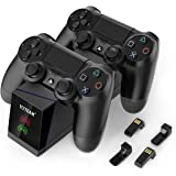 PS4 Controller Charger, YCCTEAM Dual Fast Controller Charging Station for Sony PS4,PS4 Slim,PS4 Pro with 4 Micro USB…