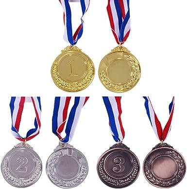 Onepine 72pcs Medals Set Kids Gold Plastic Winner Award Medal for Childrens Party Favors