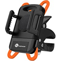 Bike Mount Bicycle Holder, Taotronics Universal Cradle Rack for iOS Android Smartphone GPS Other Devices, with One-button Released, 360 Degrees Rotatable, Rubber Strap