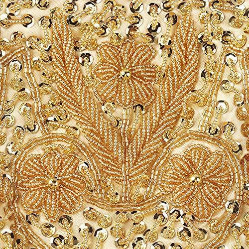 Evening Handbag Bag Tote Beaded Prom Women Gold Wedding Bag johlye Embroidered Vintage Party Clutch Shoulder 5qx1BW8w