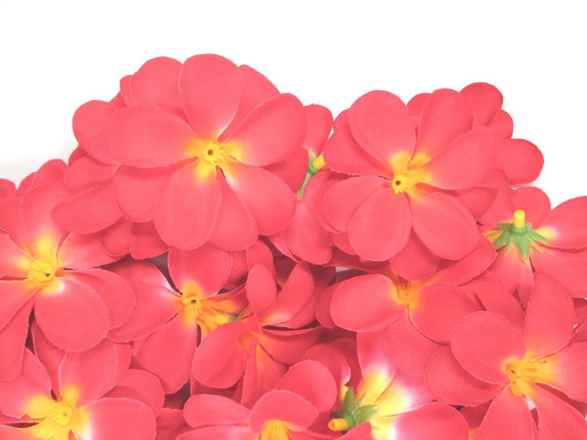 100-Red-Hawaiian-Plumeria-Frangipani-Silk-Flower-Heads-3-Artificial-Flowers-Head-Fabric-Floral-Supplies-Wholesale-Lot-for-Wedding-Flowers-Accessories-Make-Bridal-Hair-Clips-Headbands-Dress
