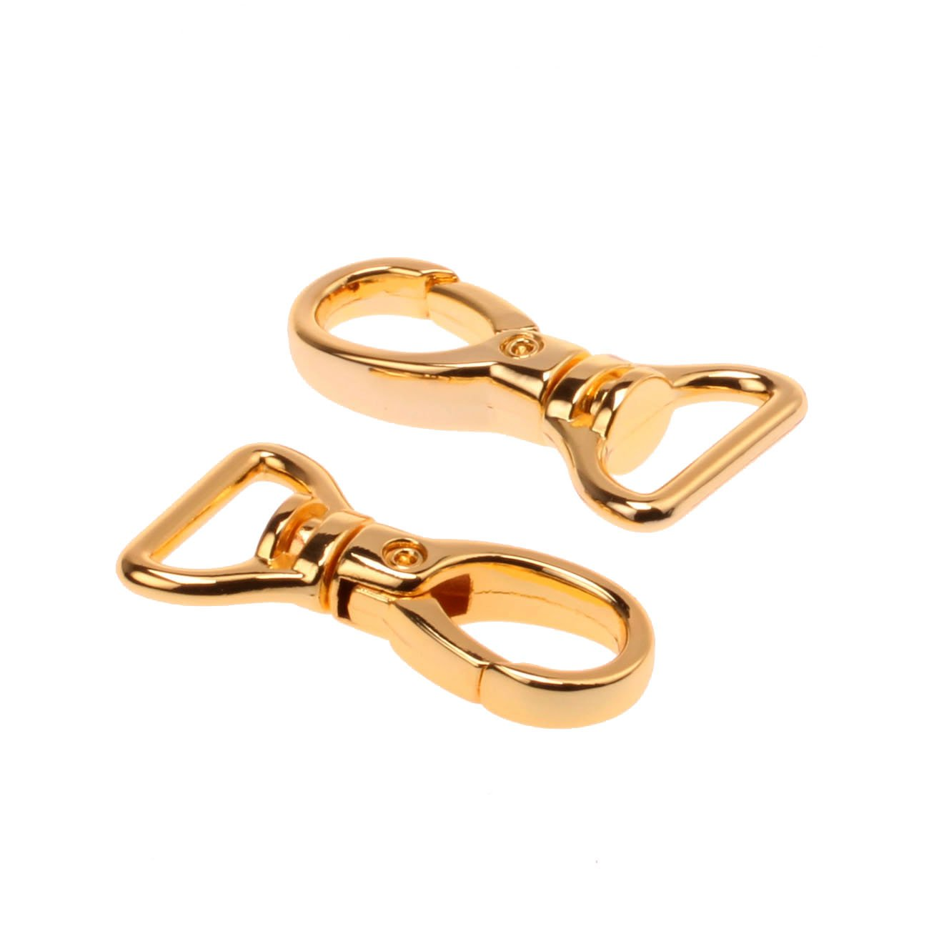 COTOWIN 3/4-inch Gold Color Curved Lobster Clasps Swivel Trigger Clips Snap (Pack of 20) by COTOWIN