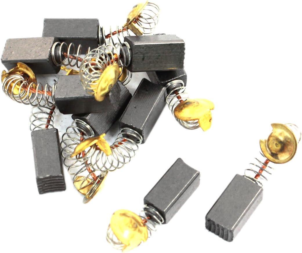 sourcingmap/® 10 Pi/èces Rechange Moteur Perceuse 13mm x 6mm x 7mm brosses carbone