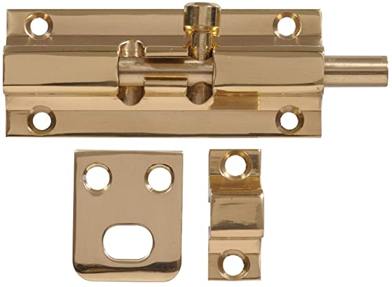 Amazon.com: Hillman Hardware Essentials 851016 Barrel Bolt Bright Brass 2-1/2