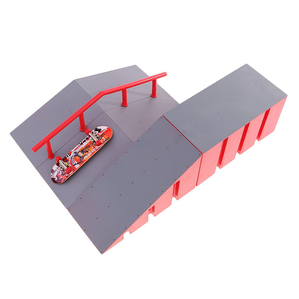 Fenteer Skate Ramp Parts for Fingerboard Finger Skateboards for Children Gift D