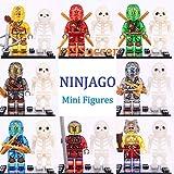 8+8pcs set Ninjago Clouse Skylor Zugu Cole Custom Lego MiniFigure