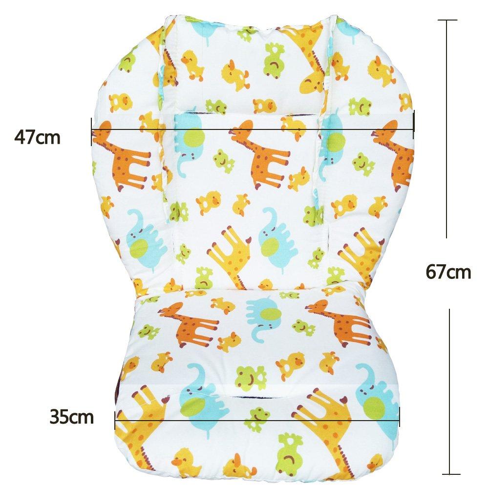 Amcho b/éb/é Poussette//chaise haute//si/ège auto Coussin film de et respirant Pad Chaise haute Pad Animal Pattern
