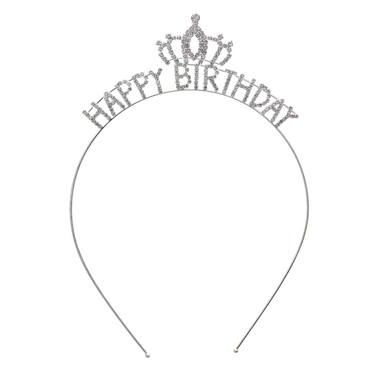 pinkmarie Collections Women's Happy Birthday Rhinestone Tiara Crown