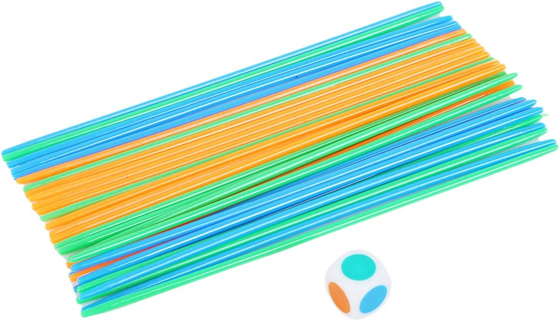 EJY Pick Up Sticks Game Classic Desktop Children Educational Color Identify Toy,Great Fun Game for all Ages