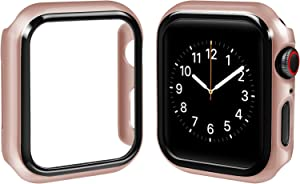top4cus PC 42mm Case Compatible with Apple Watch Slim Lightweight Electroplated Protective Iwatch Case Protector Bumper, for Series 3 Series 2 Series 1 (Champagne Gold, 42mm)